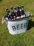 Galvanised Beer Bucket-Accessories-Retail Therapy Interiors