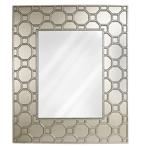 Geometric Extra Large Wooden Wall Mirror 126cm-Mirrors-Retail Therapy Interiors