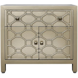 Geometric Wooden 1 Drawer 2 Door Cabinet-Furniture-Retail Therapy Interiors