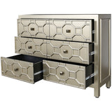 Geometric Wooden 6 Drawer Cabinet-Furniture-Retail Therapy Interiors
