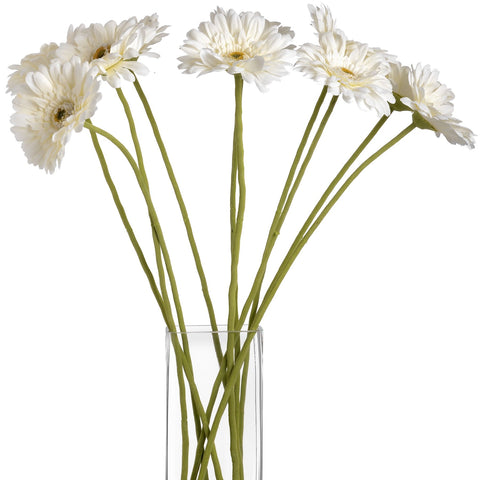 Gerbera Single Stem Flower Cream 62cms-Accessories-Retail Therapy Interiors
