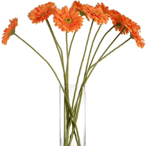 Gerbera Single Stem Flower Orange 62cms-Accessories-Retail Therapy Interiors