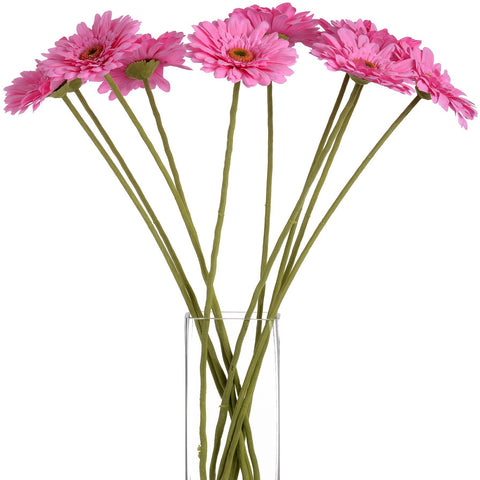 Gerbera Single Stem Flower Pink 62cms-Accessories-Retail Therapy Interiors