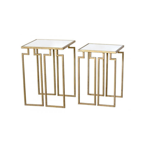 Gin Shu Parisienne Metal Nesting Tables-Furniture-Retail Therapy Interiors