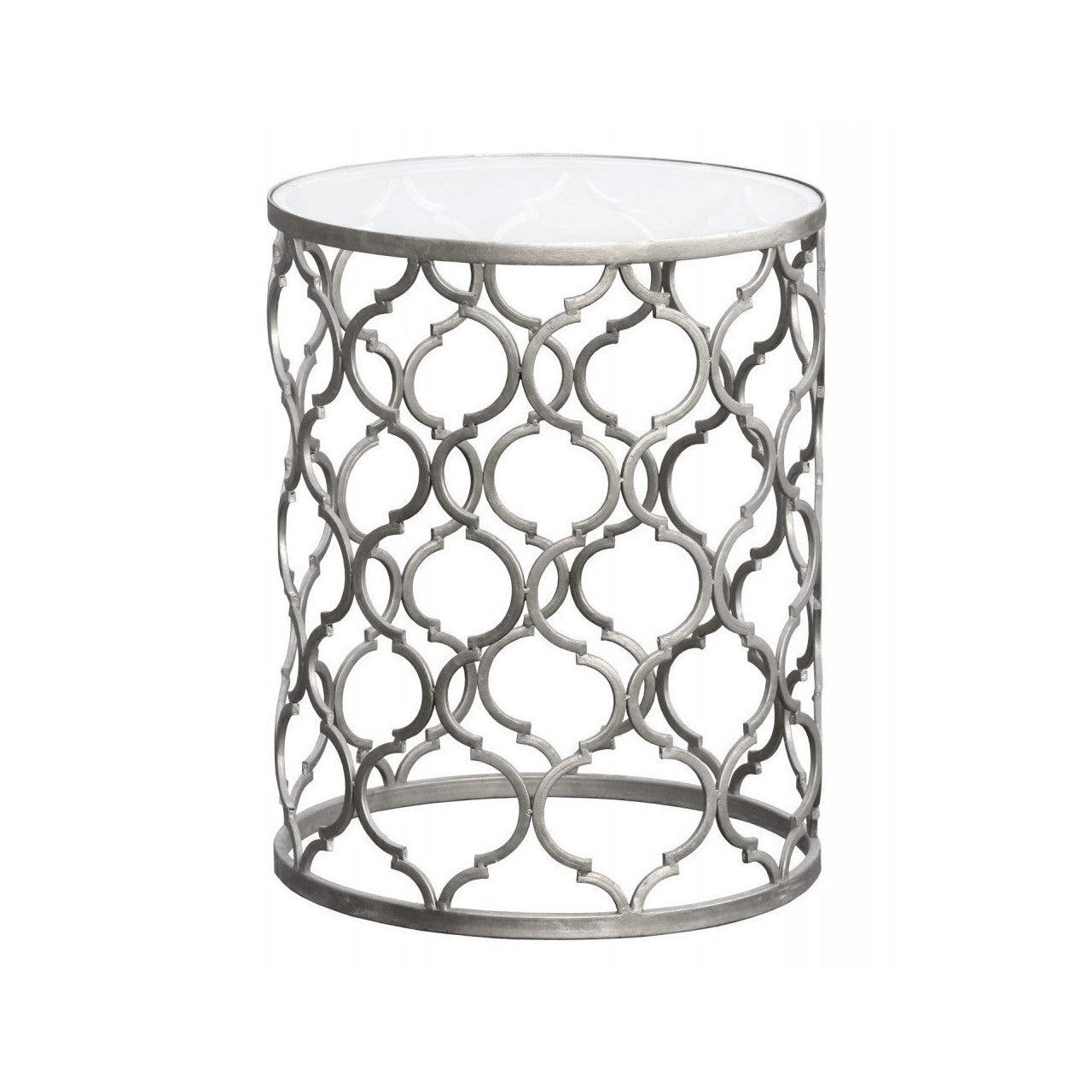 new product 4586b 641b4 Gin Shu Parisienne Round Metal Side Table Silver