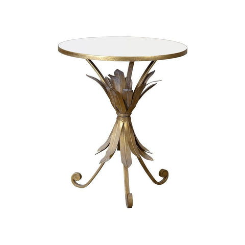 Gin Shu Pineapple Gold Metal Circle Table-Furniture-Retail Therapy Interiors