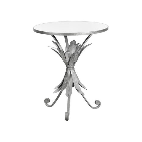 Gin Shu Pineapple Silver Metal Circle Table-Furniture-Retail Therapy Interiors