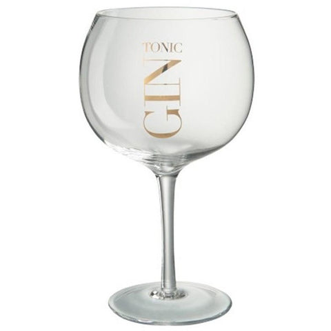 Gin Tonic Balloon Cocktail Glass, Gold-Kitchenware-Retail Therapy Interiors