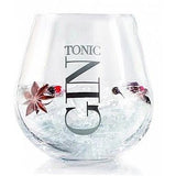 Gin Tonic Round Tumbler, Silver-Kitchenware-Retail Therapy Interiors