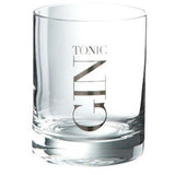 Gin Tonic Silver Straight Tumbler, Silver-Kitchenware-Retail Therapy Interiors