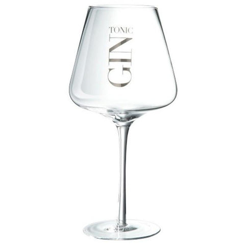 Gin Tonic Tapered Cocktail Glass, Silver-Kitchenware-Retail Therapy Interiors
