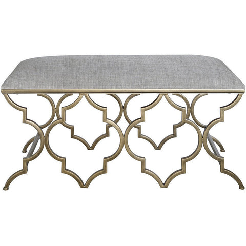 Gold Marrakech Bench-Furniture-Retail Therapy Interiors