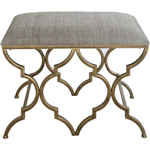 Gold Marrakech Stool-Furniture-Retail Therapy Interiors