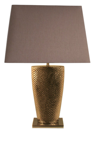 Gold Small Table Lamp With Chocolate Shade-Lighting-Retail Therapy Interiors