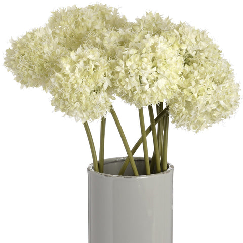 Green Allium Hydrangea Single Stem 70cms-Accessories-Retail Therapy Interiors