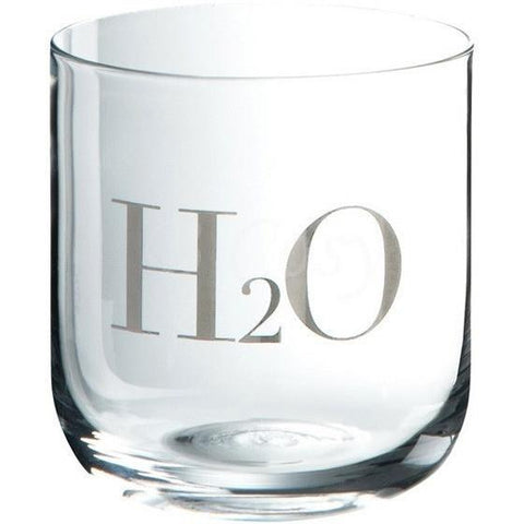 H20 Glass Tumber Set of 6, Silver-Kitchenware-Retail Therapy Interiors