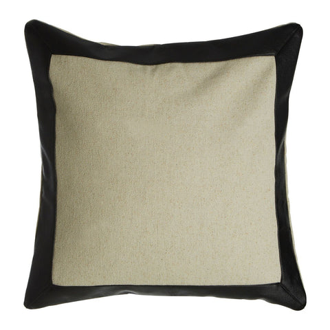 Hampstead Cushion Cream Contrast-Soft Furnishings-Retail Therapy Interiors