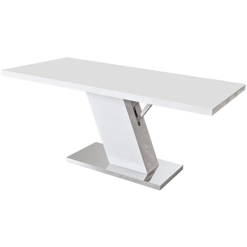 High Gloss White Dining Table-Furniture-Retail Therapy Interiors