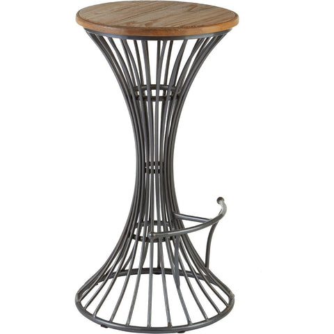 Industrial Foundry Bar Stool Elm Wood/Metal-Furniture-Retail Therapy Interiors