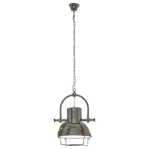 Industrial Revolution Pendant Light Chrome-Lighting-Retail Therapy Interiors