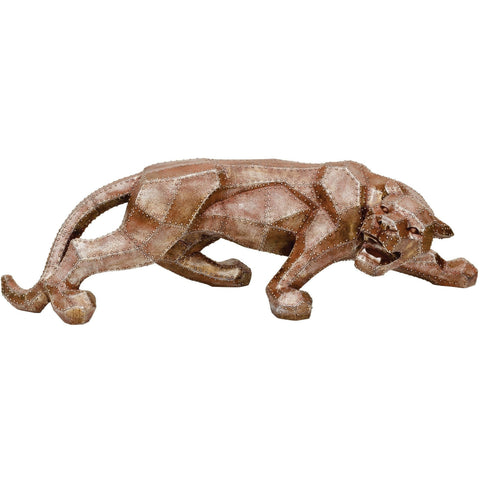 Jaguar Resin Sculpture Copper-Accessories-Retail Therapy Interiors