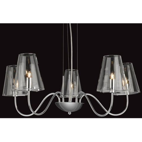 Jasmine Chrome and Glass Chandelier-Lighting-Retail Therapy Interiors