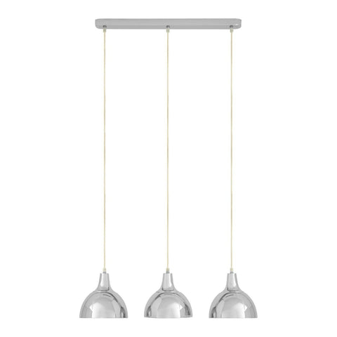Jasper Triple Pendant Light Chrome-Lighting-Retail Therapy Interiors