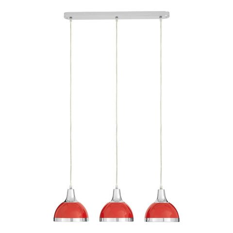 Jasper Triple Pendant Light Red-Lighting-Retail Therapy Interiors