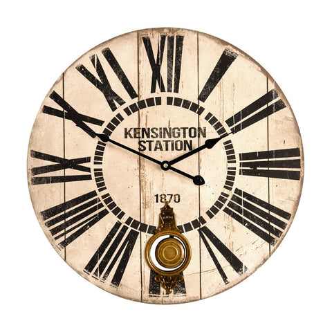 Kensington Pendulum Wall Clock-Clocks-Retail Therapy Interiors