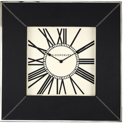 Kensington Town House Wall Clock Leather Effect 77cm-Clocks-Retail Therapy Interiors
