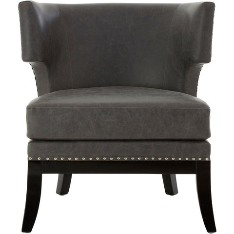 Kensington Townhouse Armchair Grey Leather Effect-Furniture-Retail Therapy Interiors