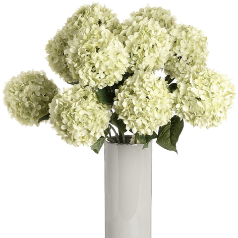 Large Green Single Hydrangea-Accessories-Retail Therapy Interiors