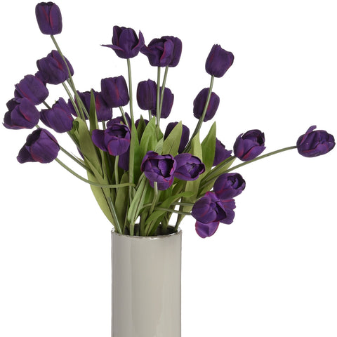 Large Purple Tulip Stem-Accessories-Retail Therapy Interiors