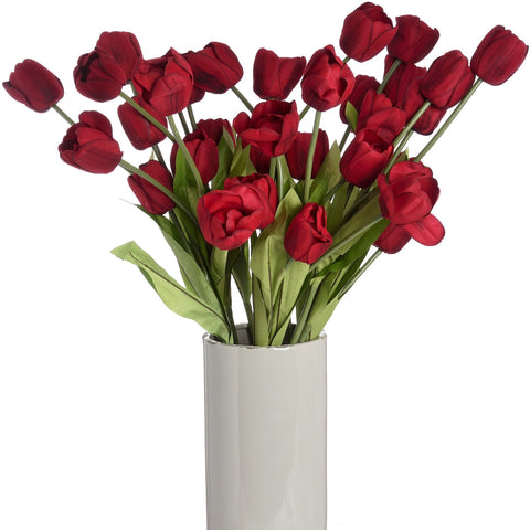 Large Red Tulip Stem-Accessories-Retail Therapy Interiors