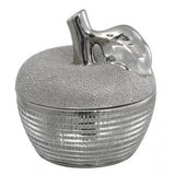 Large Silver Art Deco Apple Storage Jar-Accessories-Retail Therapy Interiors