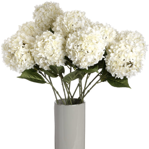 Large White Single Hydrangea-Accessories-Retail Therapy Interiors