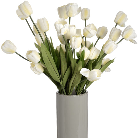 Large White Tulip Stem-Accessories-Retail Therapy Interiors
