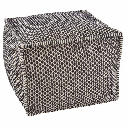 Lattice Print Pouffe-Soft Furnishings-Retail Therapy Interiors