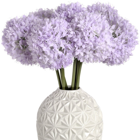 Lilac Allium Hydrangea Single Stem 70cms-Accessories-Retail Therapy Interiors