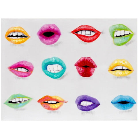 Lips Canvas Art-Wall Art-Retail Therapy Interiors