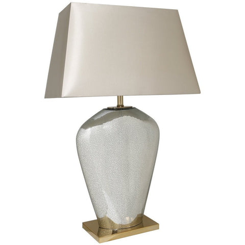Mercury Glass Ovi Lamp With Champagne Oval Shade 80cms-Lighting-Retail Therapy Interiors