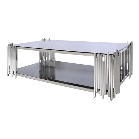 Metal & Glass Tubular Coffee Table-Furniture-Retail Therapy Interiors