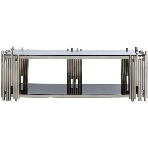 Metal & Glass Tubular Entertainment Unit-Furniture-Retail Therapy Interiors