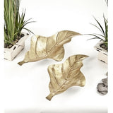 Metallic Leaf Dish Set of 2-Accessories-Retail Therapy Interiors