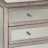 Mirrored Moc Croc 3 Drawer Chest of Drawers-Furniture-Retail Therapy Interiors