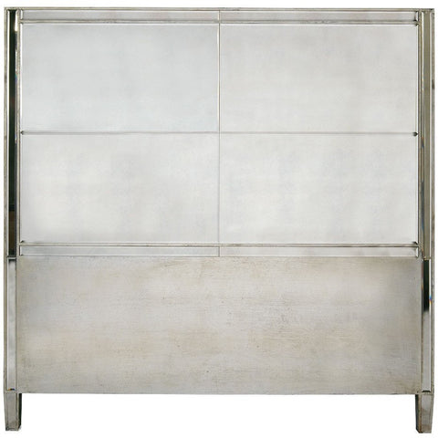 Mirrored Vintage Venezia Silver Mirror Headboard-Furniture-Retail Therapy Interiors