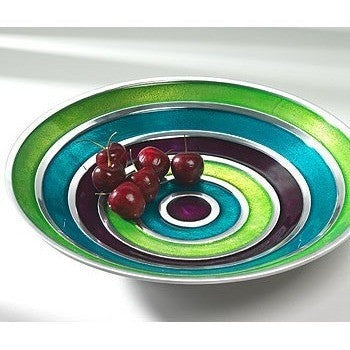 Multi Swirl Brushed Aluminium Fruit Bowl-Kitchenware-Retail Therapy Interiors