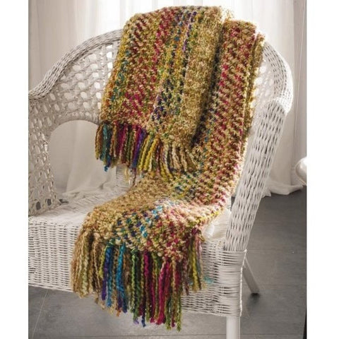Multicoloured Soft Woven Acrylic Throw