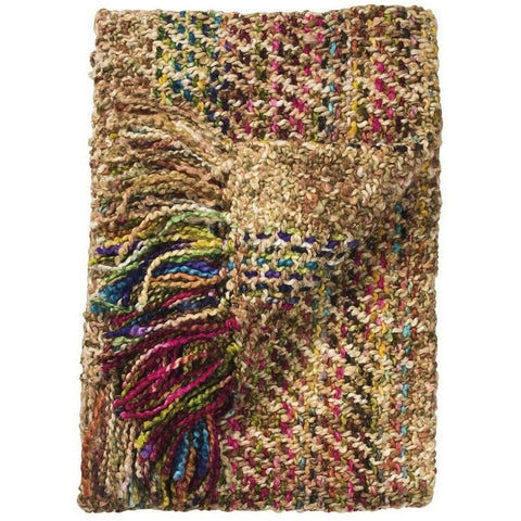 Multicoloured Soft Woven Acrylic Throw-Soft Furnishings-Retail Therapy Interiors