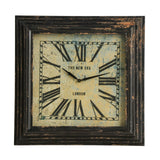 New York Loft Distressed Wall Clock-Clocks-Retail Therapy Interiors